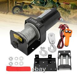 2000lbs Electric Winch Recovery Higher Duty 12v Remote Control Rope Trailer Camion