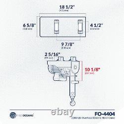 2200 Lb. Grue Palan Électrique Suspendu Avec Télécommande Sans Fil Fo-4404-1