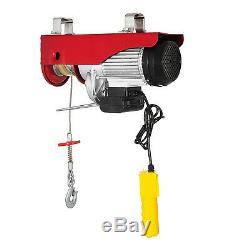 2200 Lb Hoist Fil Électrique Treuil De Levage De Grue De Levage 110v 40 Pi Avec Télécommande