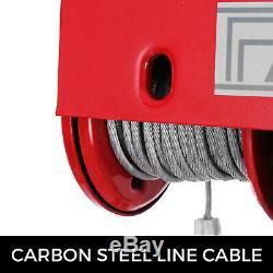 2200lbs Palan Électrique Treuil De Levage Par Câble Haut Carbone Robuste Hm