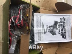 2500 Lbs Vtt, Utv Treuil Électrique Câble D'acier, Fits À Distance Plus D'un Véhicule