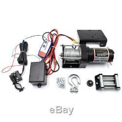 2500lb 12v Électrique Câble D'acier Treuil Atv Offroad Utv Télécommande Sans Fil