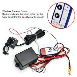 2500lb-4500lb 12v/24v Electric Winch Portable Atv Car Heavy Duty Steel Cable Kit