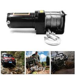 3000lb Treuil Électrique 24v Portable Vtt De Remorquage De Remorques De Camions Sans Fil Contrôleur