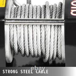 3500lbs Electric Recovery Treuil De Remorquage 12v Truck Steel Rope Off Road Waterproof