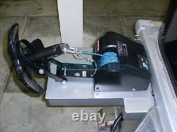 35 Lbs Bateau Saltwater Electric Anchor Winch With Wireless Remote Control Noir