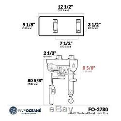 440 Lb. Pontier Palan Électrique Five Oceans Fo-3780-1