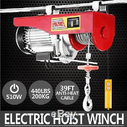 440lbs Électrique Treuil De Levage De Levage Moteur De La Grue En Acier Au Plafond Haut Carbone