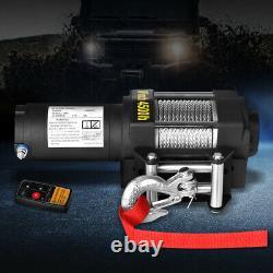 4500 Lbs / 2041kgs Treuil Électrique Sans Fil 12v Atv 4x4 Câble D'acier Bateau