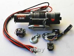 4500lb Treuil Électrique Synthétique Corde Atv Quad Bike Utv Ferme Marine Bateau
