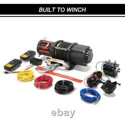 4500lbs Synthetic Rope Electric Winch Withremote Control For Atv Ute Offroad 4wd