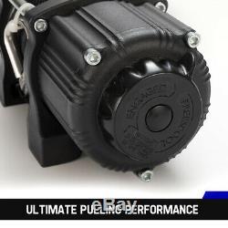 4500lbs Treuil Électrique Corde Synthétique Avec Télécommande Pour Atv Offroad Ute Bateau