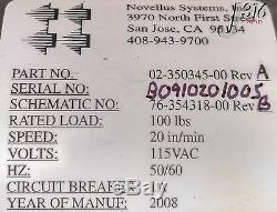 7210 Novellus Baldor Treuil De Câble En Acier Pour Grue Électrique 100lbs 02-350345-00