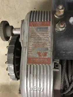 8000 Lb Avertir 8274 Modèle Treuil Avec Câble Et Commandes Nouvelles