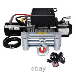 8000lb 5.5hp 12v Electric Recovery Winch Truck Suv Wireless Remote Withgloves