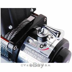 8000lb 5.5hp 12v Treuil Électrique Vtt Suv Remorques De Camions Télécommande Sans Fil