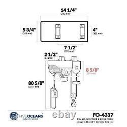 880 Lb. Grue De Hoist Électrique Avec Télécommande 20ft Fo-4337