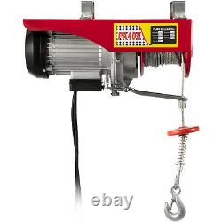 880lbs Électrique Hoist Treuil Lift Moteur Crane Brackets Lift Crochet Garage