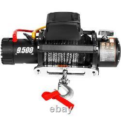 9500lbs Treuil Électrique 12v Remorque De Camion Câble Synthétique Remorquage Hors Route 4x4