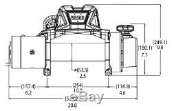 96815 Warn Vr10-s 10k Lb Treuil Électrique À Récupération Automatique Avec Corde Synthétique