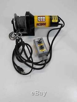 Ac1000 Treuil Électrique 1000 Lbs. Charge Sw801-009 115vac 10 Ampères