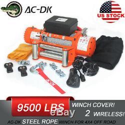 Ac-dk 12v Treuil Électrique 9500lbs Ip67 Étanche Avec Câble En Acier Pour La Récupération