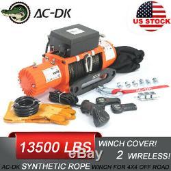 Ac-dk 12v Treuil Électrique De Corde Synthétique Ip67 Étanche Pour La Récupération