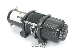 Ac-dk 4500 Lb Vtt Et Utv Treuil Électrique 12v Avec Corde Synthétique Et Bouchon De Crochet