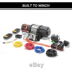 Acier Winch 4500lbs Électrique Câble De Récupération Pour Atv Offroad Ute Withremote Contrôle