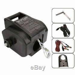 Alavente Électrique Remorque Portable Winch 12v DC 2000 Lbs Treuil Électrique B