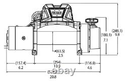 Avertissez Vr Evo 10-s 10k Lb Self-recovery Electric Winch Avec 90ft De Corde Synthétique