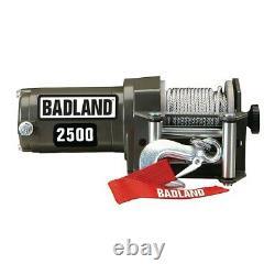 Badland 2500 Lb Remorque Électrique 12v Utv Atv Winch Avec Sans Fil Remote Freeship