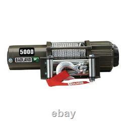 Badland 5000 Lb 12v Electric Trailer Utv Atv Winch Avec Télécommande Sans Fil