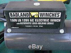 Badlands 1500 Lb Treuil Électrique Ascenseur Hoist 120v Garage Portable Shop