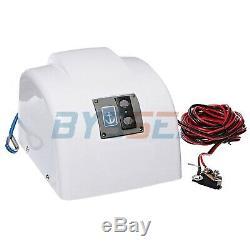 Bateau Électrique Marine Guindeau Avec Télécommande Sans Fil 45 Lbs Chute Libre