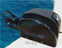 Boat Anchor Winch Free Fall Electric Marine Wireless 45lbs Saltwater Winch Black