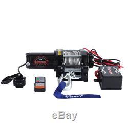 Bravex Electric 12v 3500lb / 1591kg Treuil Simple Ligne Étanche Pour Bateau Vtt Utv