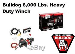 Bulldog 12v DC Électrique Heavy Duty Winch Dc6000, 6000 Lbs. Traction Ligne Withrope