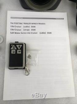 Câble D'acier De Treuil De Remorque Électrique De 10000lbs 12v Pour Le Noir D'eau Douce De Bateau De 24ft