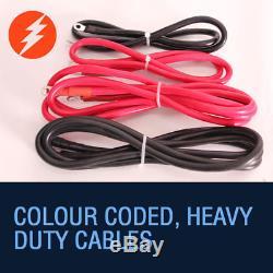 Câble Électrique En Acier Du Treuil 12v 4500lb De Récupération, Usage Intensif, Bateau, 4x4 Rhino