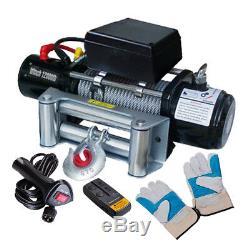 Câble Électrique Sans Fil À Télécommande Du Treuil 12v De Voiture Électrique 12000lbs