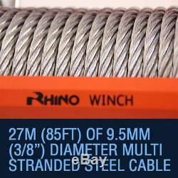 Câble En Acier Résistant Du Treuil 12v 13500lb De Récupération Électrique, Voiture Rhino De 4x4