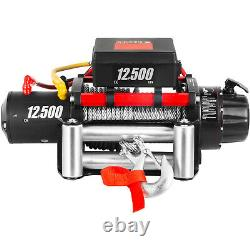 Camion Winch Electric Winch 12500lbs 12v Power Winch 85ft Steel Cable For Utv Atv