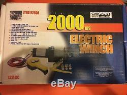 Chicago Electric Power Tools Treuil Électrique De 2 000 Lb Et Canal De Montage De Treuil