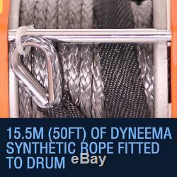Corde Électrique De Dyneema Du Treuil 3000lb Électrique De 12v, Tous Terrains, Récupération Rhino 4x4