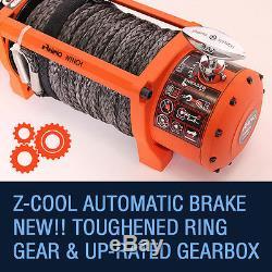Corde Synthétique Électrique Du Treuil 24v 13500lb De Récupération, Voiture Rhino Résistante De La Voiture 4x4