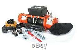 Couleur Orange Ip67 Étanche Ac-dk 12v Treuil Électrique Et Corde Synthétique