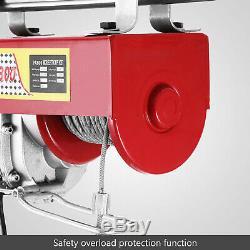 Crochet Électrique D'ascenseur De Garage De Grue De Levage De Treuil De Grue Électrique De 1500lbs Aérien