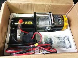 Dcflat 12v 4500lbs Treuil Électrique De Remorquage Sans Fil Jp-4500 Remote Control