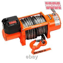 Electric Winch 12v Recouvrement 4x4 17000 Lb Winchmax Wireless Synthétique Dyneema